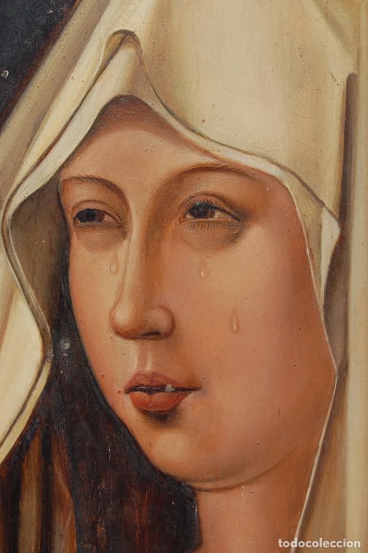 Arte: Retrato de Isabel I La Católica. Oleo sobre tabla. 44 cm de base y 61cm. de altura - Foto 9 - 96097607