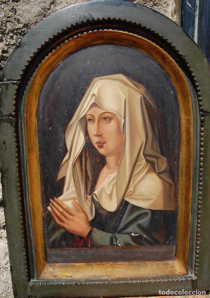 Arte: Retrato de Isabel I La Católica. Oleo sobre tabla. 44 cm de base y 61cm. de altura - Foto 10 - 96097607