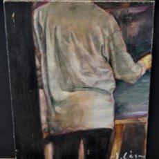 Arte: JAIME CASAS. OLEO SOBRE TELA. AUTORETRATO DEL PINTOR. Lote 96296283