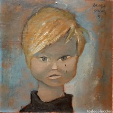Arte: SERGE CREUZ (BÉLGICA 1924-1996) PRECIOSA PINTURA RETRATO NIÑO, FIRMADA. Lote 96300822