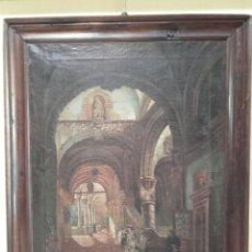Arte: INTERIOR PALACIEGO,OLEO /LIENZO DEL SIGLO XIX. Lote 96323419