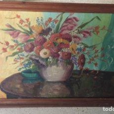 Arte: OLEO SOBRE TELA. FLORERO. FIRMADO H. KÖRMER.. Lote 96321482