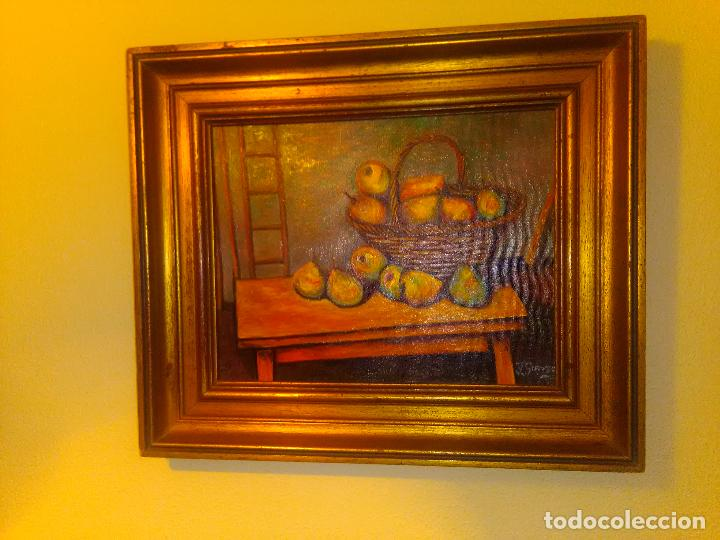 CUADRO ÓLEO CESTA DE PERAS (Arte - Pintura - Pintura al Óleo Moderna siglo XIX)
