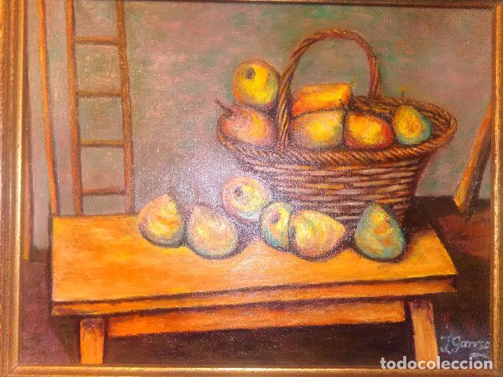 Arte: Cuadro óleo cesta de peras - Foto 2 - 96386191