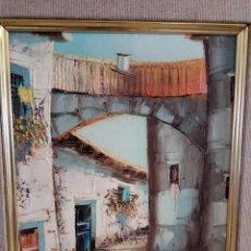 Arte: ÓLEO SOBRE LIENZO, PAISAJE RURAL, FIRMADO, 80´S, E. BELDA, EN BASTIDOR. Lote 96500923