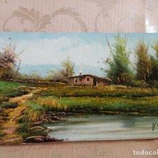 Arte: PRECIOSO ÓLEO SOBRE LIENZO, EN BASTIDOR, DEL PINTOR VALENCIANO VICENTE SANCHIS. Lote 96503559
