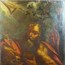 Arte: SAN GERONIMO. ÓLEO SOBRE LIENZO. ANONIMO. ESCUELA ESPAÑOLA. SIGLO XVII-XVIII.. Lote 76087783
