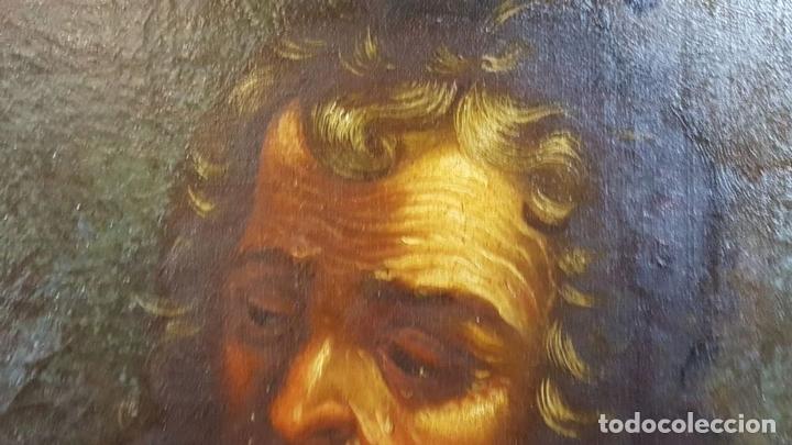 Arte: SAN GERONIMO. ÓLEO SOBRE LIENZO. ANONIMO. ESCUELA ESPAÑOLA. SIGLO XVII-XVIII. - Foto 2 - 76087783