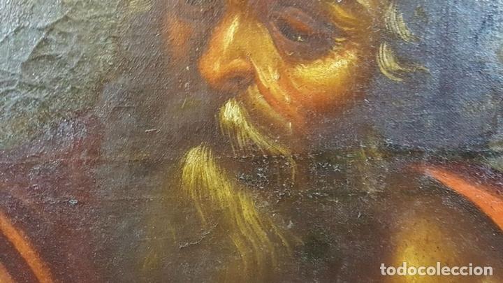 Arte: SAN GERONIMO. ÓLEO SOBRE LIENZO. ANONIMO. ESCUELA ESPAÑOLA. SIGLO XVII-XVIII. - Foto 3 - 76087783