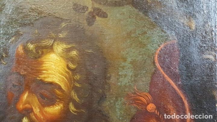 Arte: SAN GERONIMO. ÓLEO SOBRE LIENZO. ANONIMO. ESCUELA ESPAÑOLA. SIGLO XVII-XVIII. - Foto 4 - 76087783