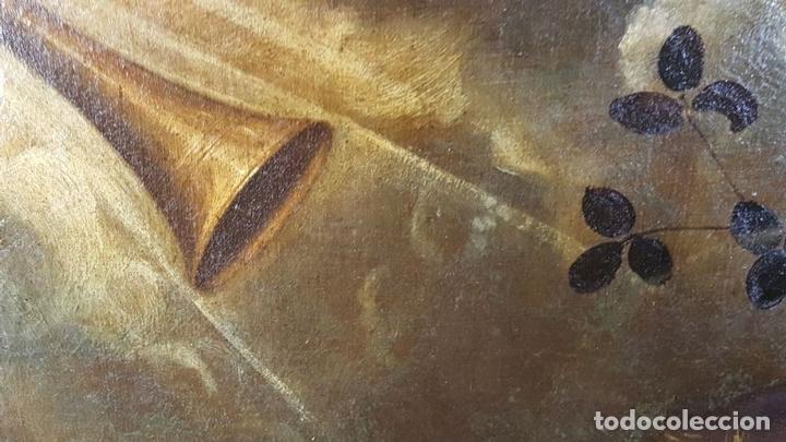 Arte: SAN GERONIMO. ÓLEO SOBRE LIENZO. ANONIMO. ESCUELA ESPAÑOLA. SIGLO XVII-XVIII. - Foto 6 - 76087783