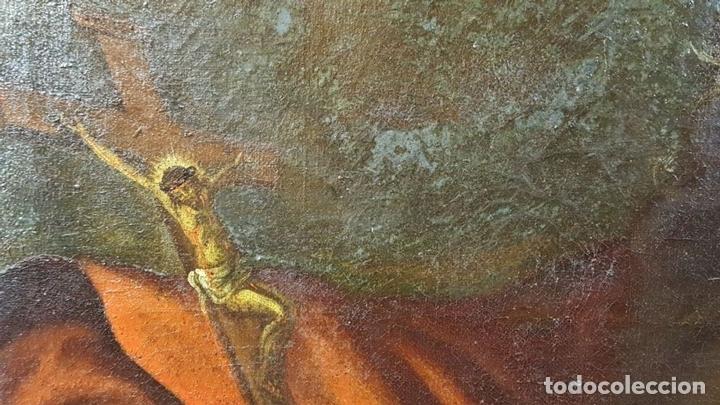 Arte: SAN GERONIMO. ÓLEO SOBRE LIENZO. ANONIMO. ESCUELA ESPAÑOLA. SIGLO XVII-XVIII. - Foto 7 - 76087783