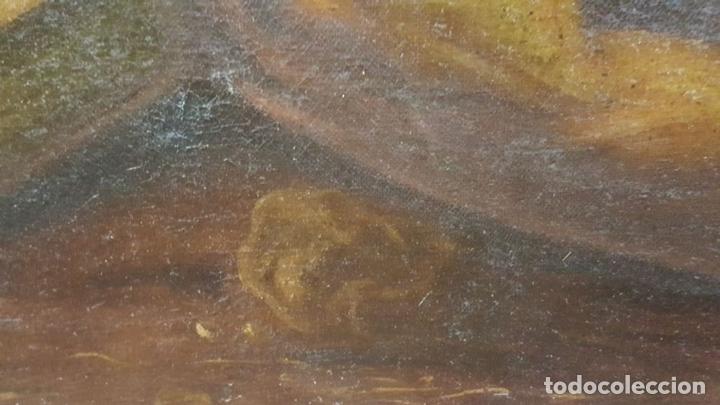 Arte: SAN GERONIMO. ÓLEO SOBRE LIENZO. ANONIMO. ESCUELA ESPAÑOLA. SIGLO XVII-XVIII. - Foto 12 - 76087783