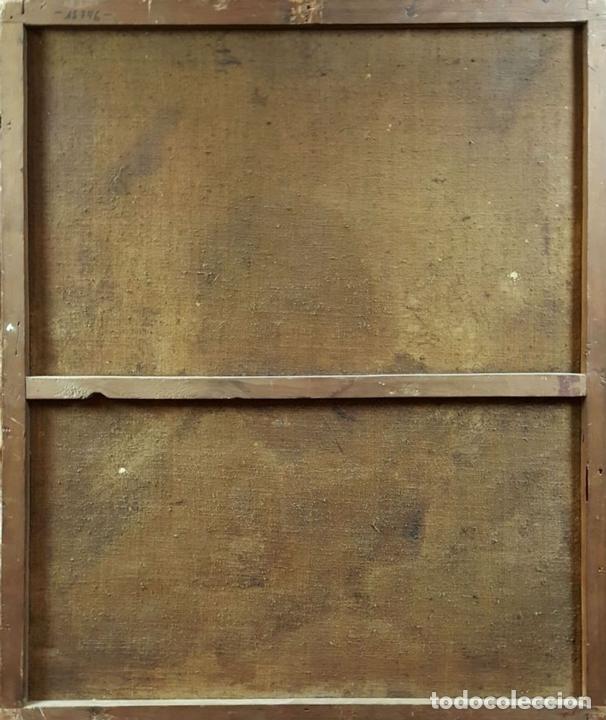 Arte: SAN GERONIMO. ÓLEO SOBRE LIENZO. ANONIMO. ESCUELA ESPAÑOLA. SIGLO XVII-XVIII. - Foto 14 - 76087783