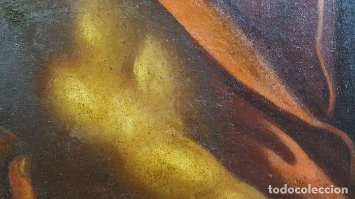 Arte: SAN GERONIMO. ÓLEO SOBRE LIENZO. ANONIMO. ESCUELA ESPAÑOLA. SIGLO XVII-XVIII. - Foto 16 - 76087783