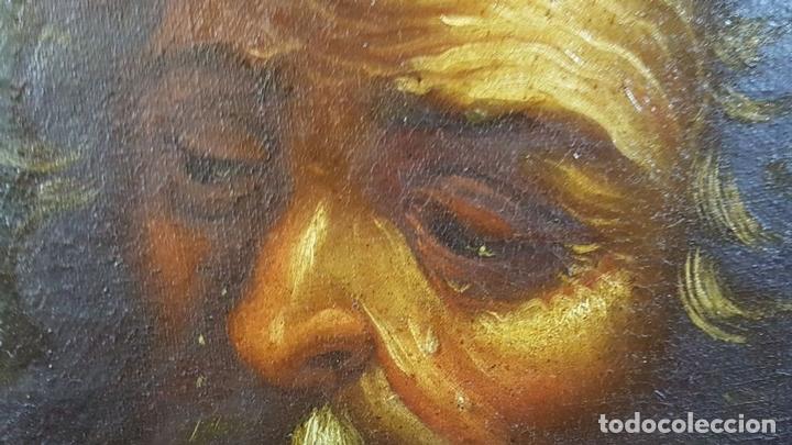Arte: SAN GERONIMO. ÓLEO SOBRE LIENZO. ANONIMO. ESCUELA ESPAÑOLA. SIGLO XVII-XVIII. - Foto 17 - 76087783