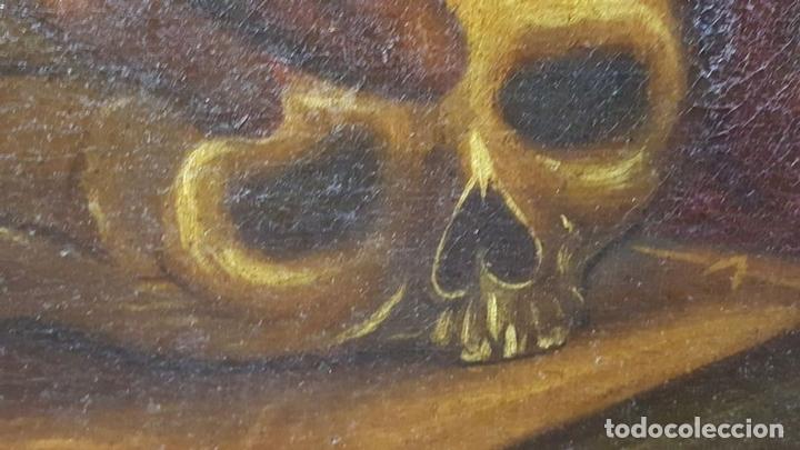 Arte: SAN GERONIMO. ÓLEO SOBRE LIENZO. ANONIMO. ESCUELA ESPAÑOLA. SIGLO XVII-XVIII. - Foto 18 - 76087783