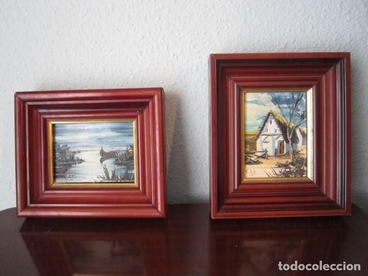 pareja cuadros óleo sobre tabla. paisaje de val - Comprar Pintura al ...