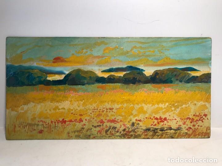 PAISAJE OLEO SOBRE TABLEX FIRMADO J.LOSAN. (Arte - Pintura - Pintura al Óleo Moderna siglo XIX)