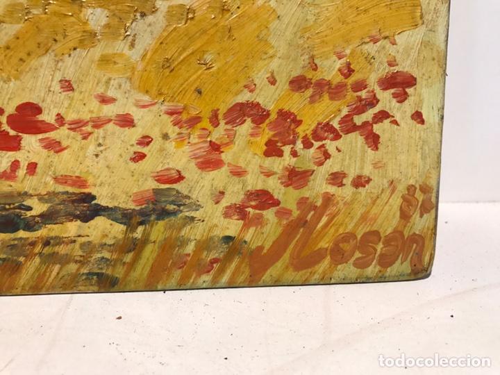 Arte: PAISAJE OLEO SOBRE TABLEX FIRMADO J.LOSAN. - Foto 4 - 96682919