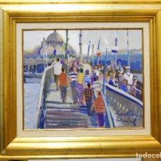Arte: OPORTUNIDAD, PROMO TIEMPO LIMITADO. OLEO RAFAEL GRIERA PRECIOSA PIEZA COLECCIONISTA ESTAMBUL. Lote 96683183