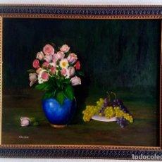 Arte: PINTURA DE R.FLORES AÑOS 70. UNICA. Lote 96685231