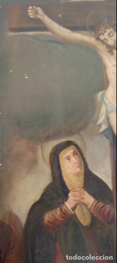 Arte: ÓLEO S/TABLA -CALVARIO-. ESCUELA ESPAÑOLA DE ALTA ÉPOCA S. XVI. DIM.- 72,5X55,5 CMS. - Foto 4 - 96685715