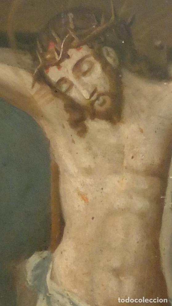 Arte: ÓLEO S/TABLA -CALVARIO-. ESCUELA ESPAÑOLA DE ALTA ÉPOCA S. XVI. DIM.- 72,5X55,5 CMS. - Foto 8 - 96685715