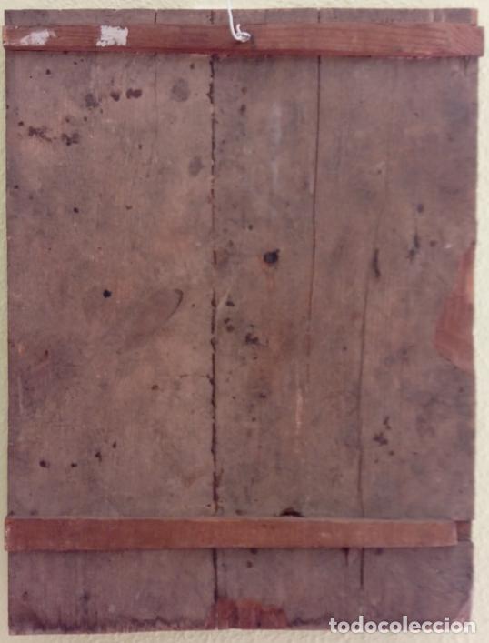 Arte: ÓLEO S/TABLA -CALVARIO-. ESCUELA ESPAÑOLA DE ALTA ÉPOCA S. XVI. DIM.- 72,5X55,5 CMS. - Foto 9 - 96685715