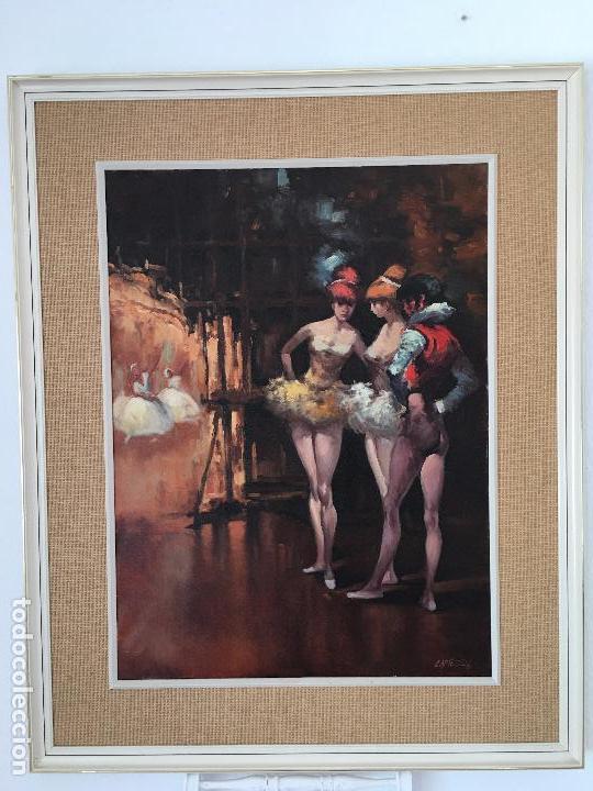 OLEO SOBRE LIENZO BAILARINAS EN DESCANSO (Arte - Pintura - Pintura al Óleo Moderna sin fecha definida)