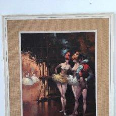 Arte: OLEO SOBRE LIENZO BAILARINAS EN DESCANSO. Lote 57753726