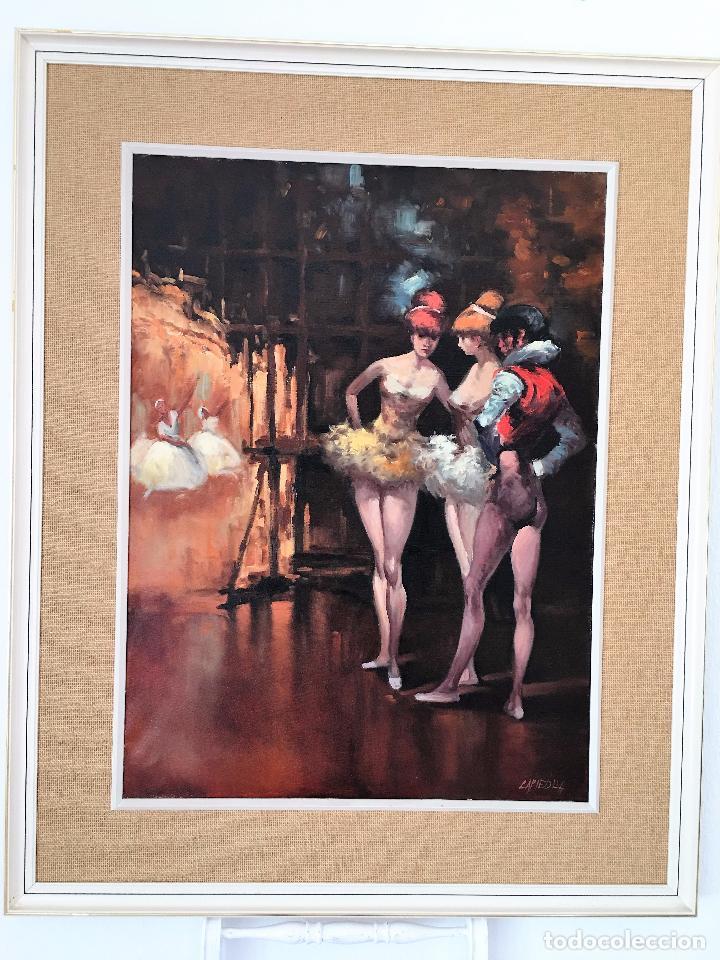 Arte: oleo sobre lienzo BAILARINAS EN DESCANSO - Foto 9 - 57753726