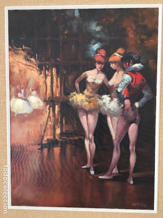 Arte: oleo sobre lienzo BAILARINAS EN DESCANSO - Foto 10 - 57753726