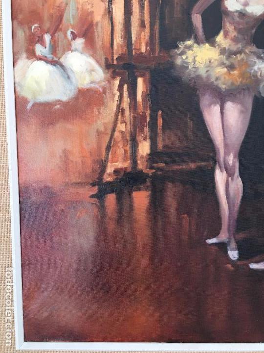 Arte: oleo sobre lienzo BAILARINAS EN DESCANSO - Foto 11 - 57753726