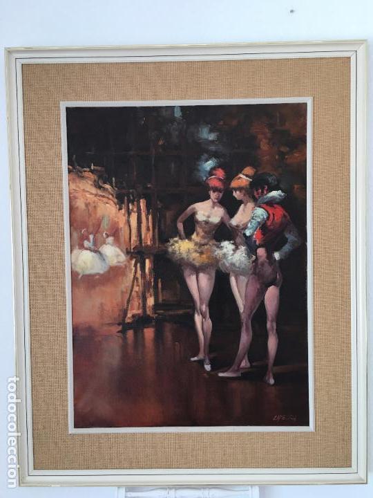 Arte: oleo sobre lienzo BAILARINAS EN DESCANSO - Foto 16 - 57753726