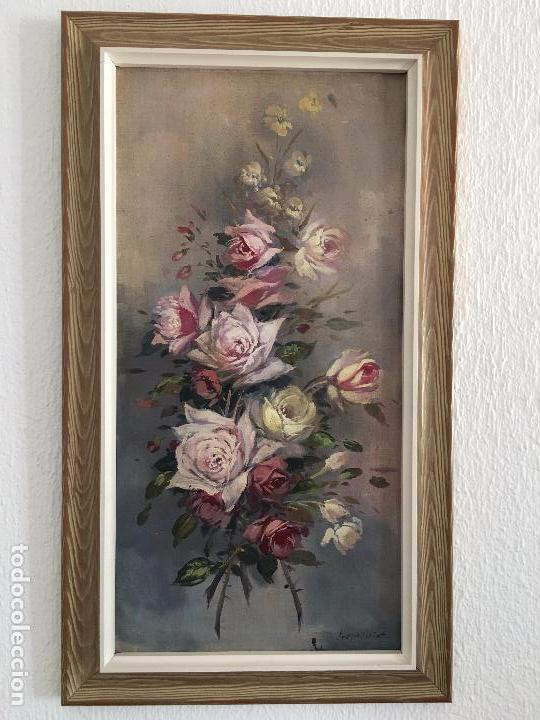 OLEO SOBRE LIENZO JARRON CON FLORES (Arte - Pintura - Pintura al Óleo Moderna sin fecha definida)