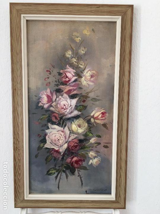Arte: oleo sobre lienzo JARRON CON FLORES - Foto 2 - 57753948