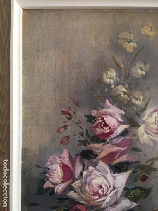 Arte: oleo sobre lienzo JARRON CON FLORES - Foto 5 - 57753948