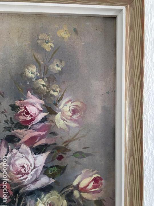 Arte: oleo sobre lienzo JARRON CON FLORES - Foto 6 - 57753948
