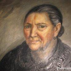 Arte: RETRATO ANCIANA, OLEO SOBRE TABLÉX - ENMARCADO 80 X 65 CM. TABLA HUECO 64 X 49 CM. SIN FIRMA. Lote 96864895