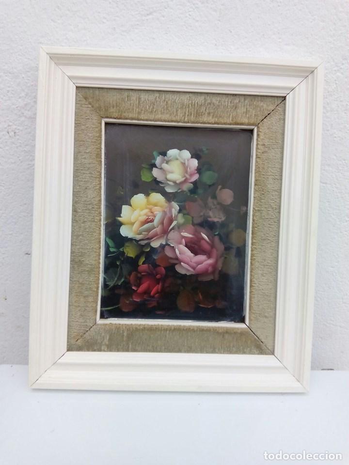 cuadro antiguo pintura de una flores mide 22 cm - Comprar Pintura al ...