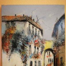 Arte: ÓLEO DE FRANCISCO MORENO ORTEGA, PINTOR MALAGUEÑO. Lote 96920666