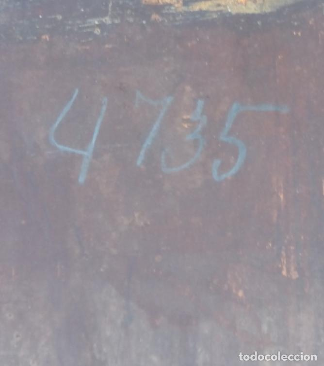 Arte: ÓLEO BAJO CRISTAL -SANTA ANA ENSEÑANDO A LEER A LA VIRGEN-. S. XVIII -ESC NAPOLITANA-. DIM.- 40X47 - Foto 10 - 96941879