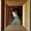 Arte: ESCUELA FRANCESA. ÓLEO SOBRE TABLA. ART NOUVEAU CIRCA 1900. Lote 96970264