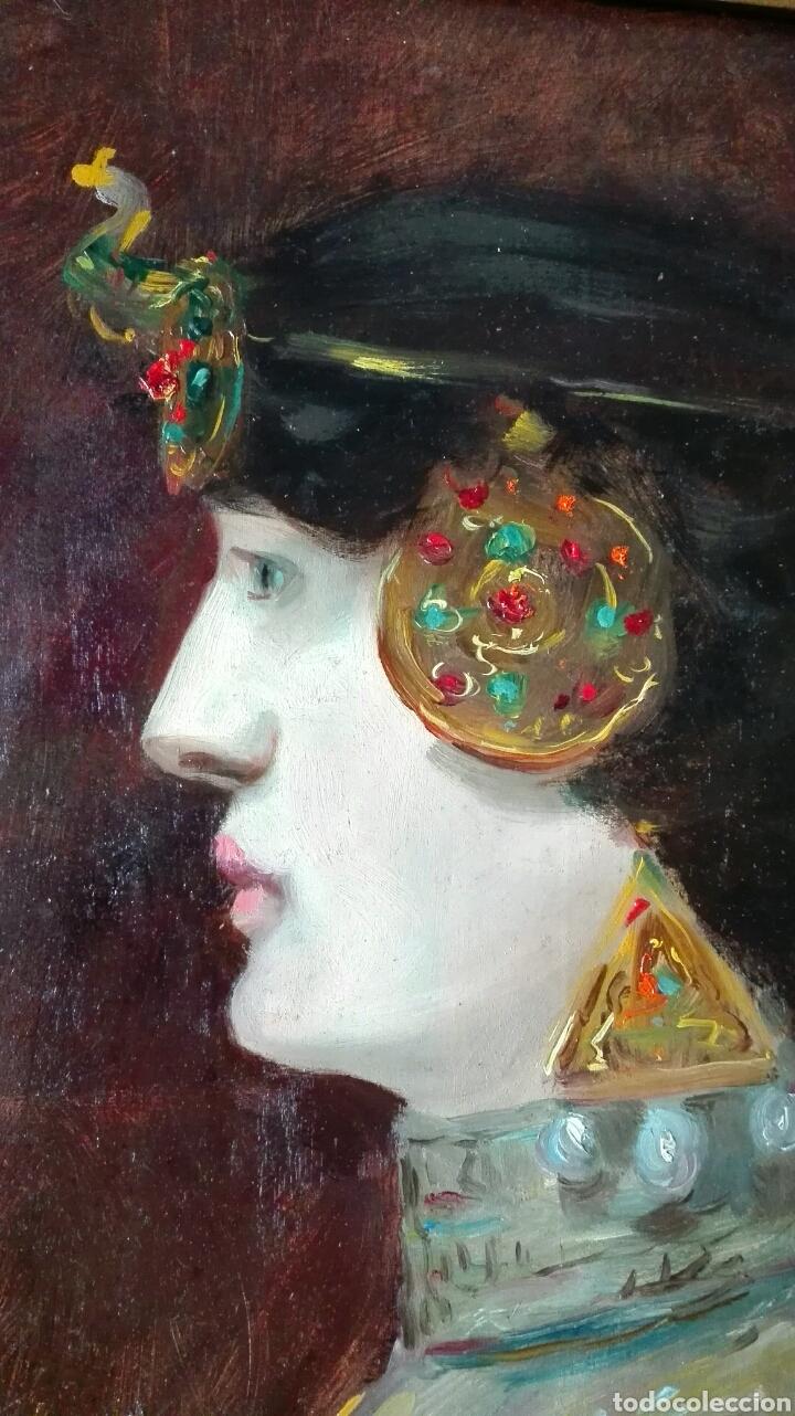 Arte: Escuela Francesa. Óleo sobre tabla. Art Nouveau Circa 1900 - Foto 5 - 96970264