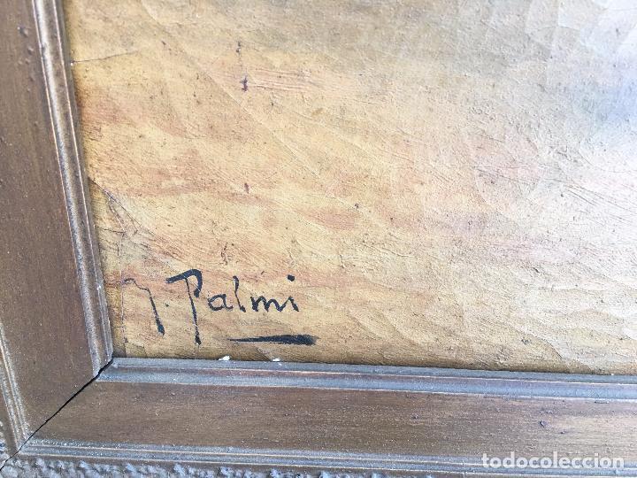 Arte: Óleo sobre lienzo, firmado J.Palmi. Oil on canvas signed J.Palmi. - Foto 5 - 97054327