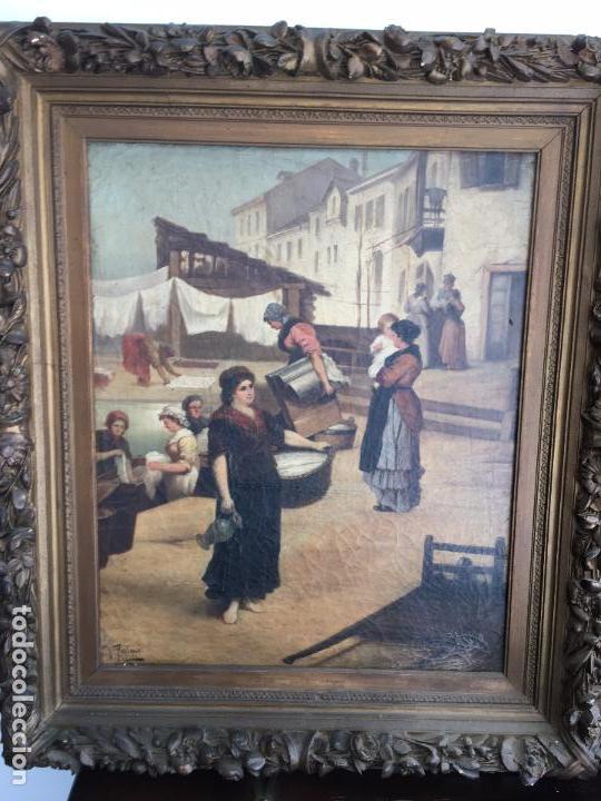 Arte: Óleo sobre lienzo, firmado J.Palmi. Oil on canvas signed J.Palmi. - Foto 6 - 97054327