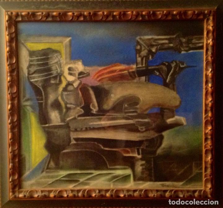 Arte: Cuadro Del Pintor PERECOLL Primera Época Este Cuadro Está En El Libro Del Pintor - Foto 4 - 97138523