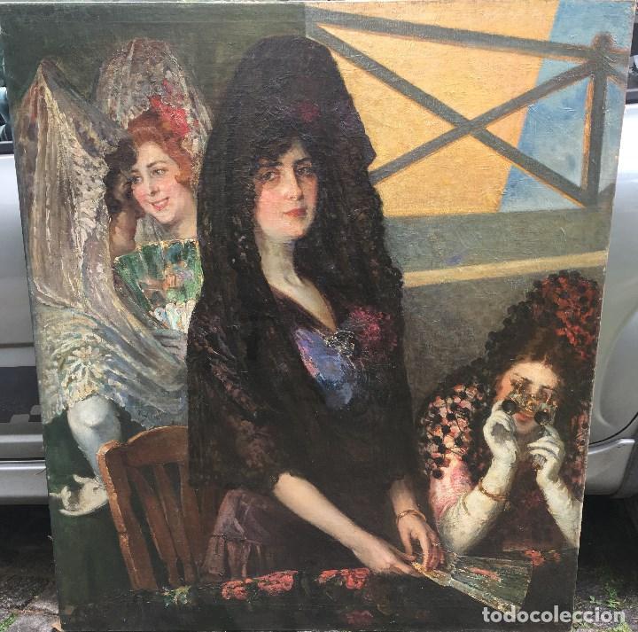 TOMÁS MUÑÓZ LUCENA (1860-1943) PINTOR ESPAÑOL - PINTOR ESPAÑOL - ÓLEO SOBRE TELA - MAJAS (Arte - Pintura - Pintura al Óleo Moderna sin fecha definida)