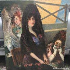 Arte: TOMÁS MUÑÓZ LUCENA (1860-1943) PINTOR ESPAÑOL - PINTOR ESPAÑOL - ÓLEO SOBRE TELA - MAJAS. Lote 97154699